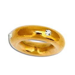 Edelstahlanhänger - Ring mit Cubic Zirkonia,...