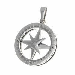 Edelstahlanhänger - Kompass