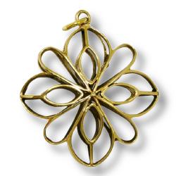 Bronzeanhänger- Blume