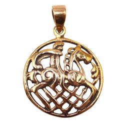 Bronzeanhänger -  Odin auf seinem Pferd Sleipnir