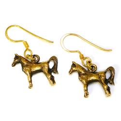 Bronzeohrringe Pferde