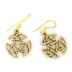 Bronzeohrringe Keltik Trinity Knoten