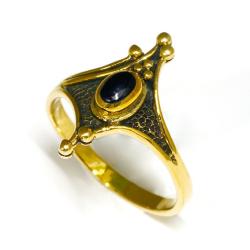 Bronzering - schwarzer Stein