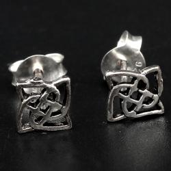 Silberohrstecker  Keltischer Knoten