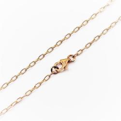 2 mm breit - 0,2 mm dick Bronzekette - Ankerkette