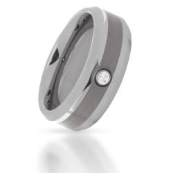 Wolfram-Ring mit Stein