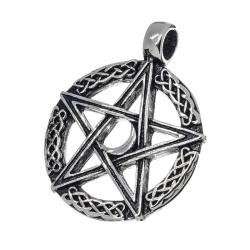 Edelstahlanhänger  Pentagramm