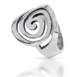 925 Sterling Silberring - Spirale