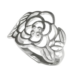 925 Sterling Silberring - Blume