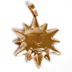 """Stainless steel pendant """"golden sun - rosegold"""""""