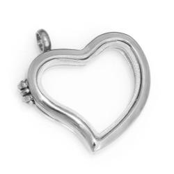 Edelstahlanhänger - Medaillon Herz