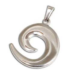 Edelstahlanhänger - Spirale