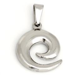 Edelstahlanhänger- Spirale