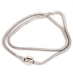 Edelstahl-Beads-Armband/Kette mit Klippverschluss