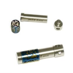 Edelstahlanhänger - Walze zum Öffnen ca. 39 x 9mm