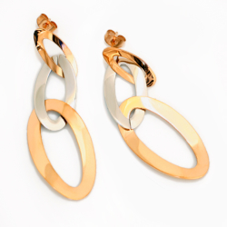 Edelstahlohrringe- drei ineinander hängende Ringe...