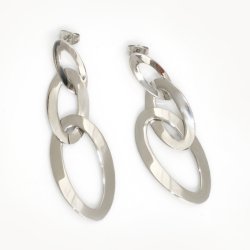 Edelstahlohrringe - drei ineinander hängende Ringe