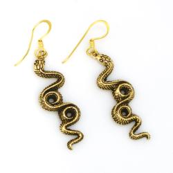 Bronzeohrringe  Schlangen