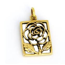 Bronzeanhänger   Blume / Rose