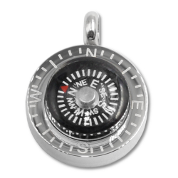 Edelstahlanhänger - Kompass Funktionsfähig