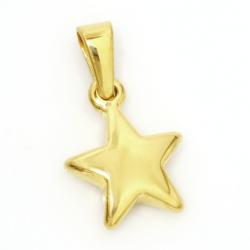 """Edelstahlanhänger - Stern """"gold"""""""