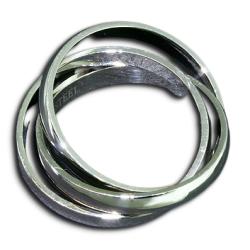 Edelstahlring - 3er Ring 4mm
