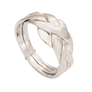 Silberring Puzzle-Ring 4-Ringe