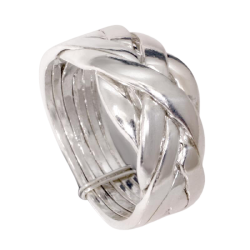 925 Sterling Silberring - Puzzle-Ring/6 Ringe in einem