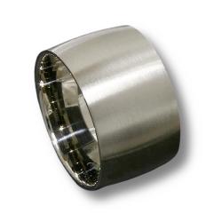 Edelstahlring - 14 mm mattiert