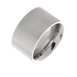 Edelstahlring - 12 mm mattiert