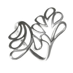 925 Sterling Silberring - Blättertraum