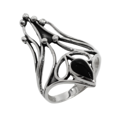 Josefine Ring aus 925 Sterling Silber 62 (19,7 Ø) 09 US