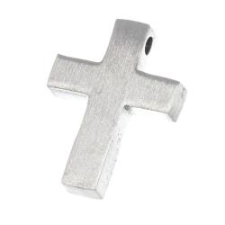 "Edelstahlanhänger - Kreuz ""Gremul"" mattiert"