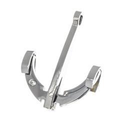 Edelstahlanhänger - Anker mit Stein