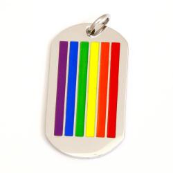 Edelstahlanhänger - Rainbow - Flag