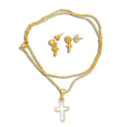 Edelstahlset  Kreuz