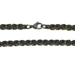 5 mm Königskette - Edelstahl - black