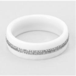 Keramikring - weiß/Cubikzirkon