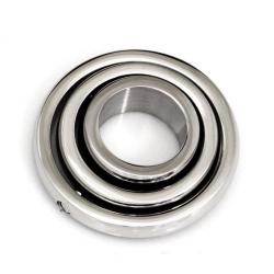 Edelstahlanhänger - drehende Kreise 23 mm