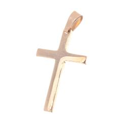 Edelstahlanhänger Kreuz Rosegold