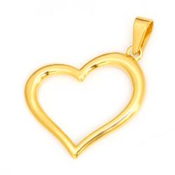 Edelstahlanhänger goldenes Herz