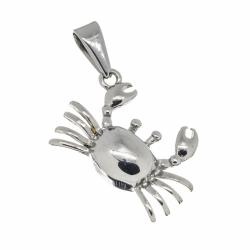 Edelstahlanhänger - Krabbe