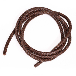 Lederband geflochten Braun