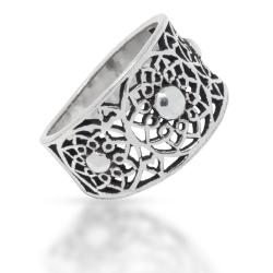 925 Sterling Silberring - Blossom