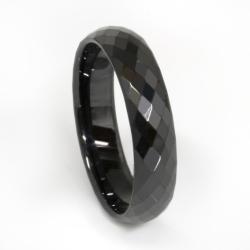 Keramikring - schwarz/Facettenring
