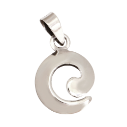 925 Sterling Silberanhänger - Silber Spirale