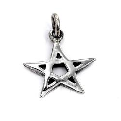 925 Sterling Silberanhänger - Pentagramm