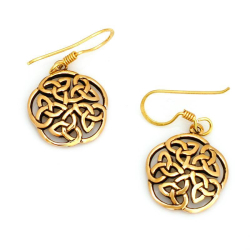 Bronzeohrringe Keltischer Knoten