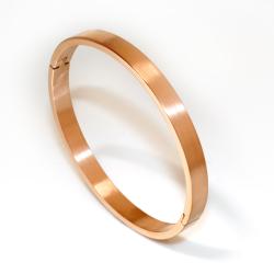 Armreif 6 mm breit - PVD-Gold mattiert