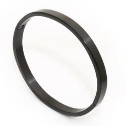 Edelstahlarmreif 6mm breit - PVD schwarz matttiert